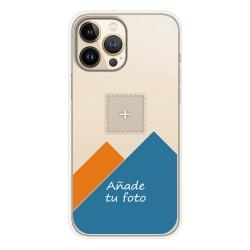 Personaliza tu Funda Silicona Gel Tpu Transparente con tu Fotografia compatible con Iphone 13 Pro Max (6.7) Dibujo Personalizada