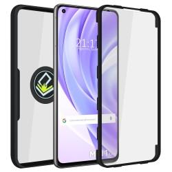 Funda Doble Negra Pc + Tpu Full Body 360 con Anillo para Xiaomi Mi 11 Lite 4G / 5G