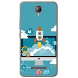 Funda Gel Tpu para Hisense F22 Diseño Cohete Dibujos