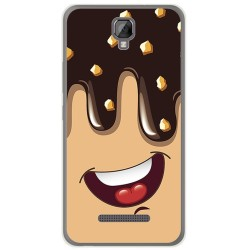Funda Gel Tpu para Hisense F22 Diseño Helado Chocolate Dibujos