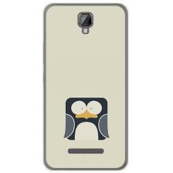 Funda Gel Tpu para Hisense F22 Diseño Pingüino Dibujos