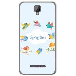 Funda Gel Tpu para Hisense F22 Diseño Spring Birds Dibujos