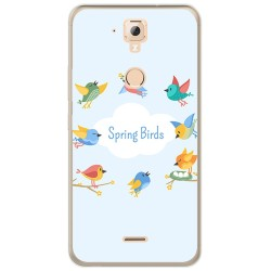 Funda Gel Tpu para Hisense F23 Diseño Spring Birds Dibujos
