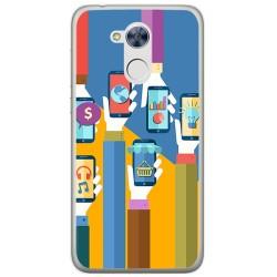 Funda Gel Tpu para Huawei Honor 6A Diseño Apps Dibujos