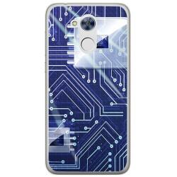 Funda Gel Tpu para Huawei Honor 6A Diseño Circuito Dibujos
