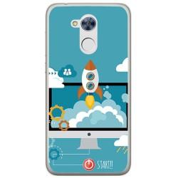 Funda Gel Tpu para Huawei Honor 6A Diseño Cohete Dibujos