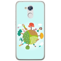 Funda Gel Tpu para Huawei Honor 6A Diseño Familia Dibujos