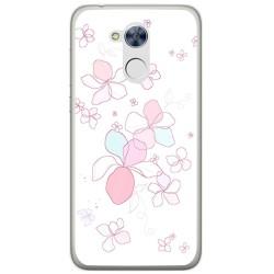 Funda Gel Tpu para Huawei Honor 6A Diseño Flores Minimal Dibujos
