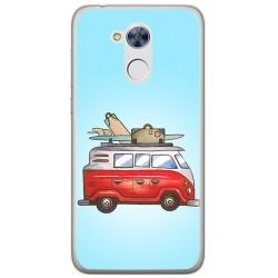 Funda Gel Tpu para Huawei Honor 6A Diseño Furgoneta Dibujos