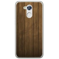 Funda Gel Tpu para Huawei Honor 6A Diseño Madera Dibujos