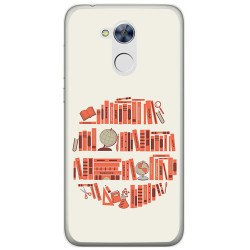 Funda Gel Tpu para Huawei Honor 6A Diseño Mundo Libro Dibujos