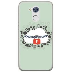 Funda Gel Tpu para Huawei Honor 6A Diseño Nube Dibujos