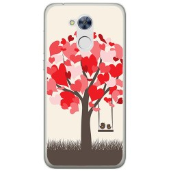 Funda Gel Tpu para Huawei Honor 6A Diseño Pajaritos Dibujos