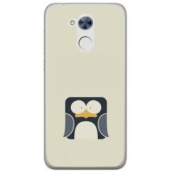 Funda Gel Tpu para Huawei Honor 6A Diseño Pingüino Dibujos