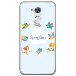 Funda Gel Tpu para Huawei Honor 6A Diseño Spring Birds Dibujos