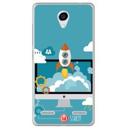 Funda Gel Tpu para Zte Blade L7 Diseño Cohete Dibujos