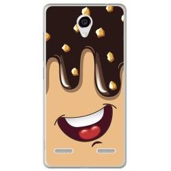 Funda Gel Tpu para Zte Blade L7 Diseño Helado Chocolate Dibujos