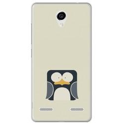 Funda Gel Tpu para Zte Blade L7 Diseño Pingüino Dibujos