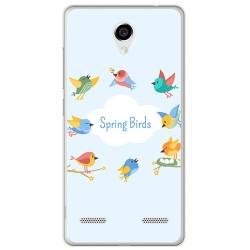 Funda Gel Tpu para Zte Blade L7 Diseño Spring Birds Dibujos