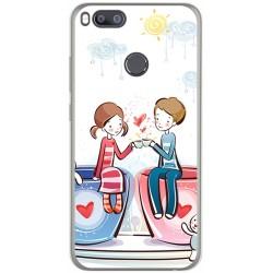 Funda Gel Tpu para Xiaomi Mi 5X / Mi A1 Diseño Cafe Dibujos