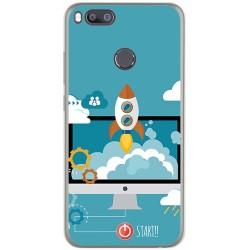 Funda Gel Tpu para Xiaomi Mi 5X / Mi A1 Diseño Cohete Dibujos