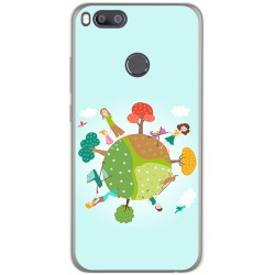 Funda Gel Tpu para Xiaomi Mi 5X / Mi A1 Diseño Familia Dibujos