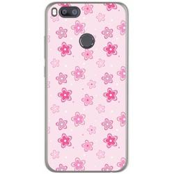 Funda Gel Tpu para Xiaomi Mi 5X / Mi A1 Diseño Flores Dibujos