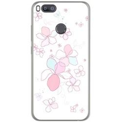 Funda Gel Tpu para Xiaomi Mi 5X / Mi A1 Diseño Flores Minimal Dibujos