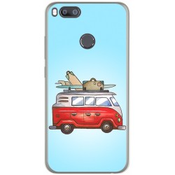 Funda Gel Tpu para Xiaomi Mi 5X / Mi A1 Diseño Furgoneta Dibujos