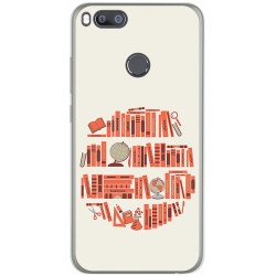 Funda Gel Tpu para Xiaomi Mi 5X / Mi A1 Diseño Mundo Libro Dibujos