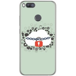 Funda Gel Tpu para Xiaomi Mi 5X / Mi A1 Diseño Nube Dibujos