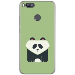 Funda Gel Tpu para Xiaomi Mi 5X / Mi A1 Diseño Panda Dibujos