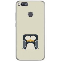 Funda Gel Tpu para Xiaomi Mi 5X / Mi A1 Diseño Pingüino Dibujos