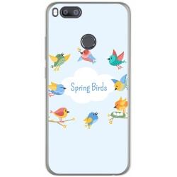 Funda Gel Tpu para Xiaomi Mi 5X / Mi A1 Diseño Spring Birds Dibujos