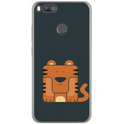Funda Gel Tpu para Xiaomi Mi 5X / Mi A1 Diseño Tigre Dibujos