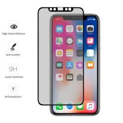 Protector Cristal Templado Frontal Completo Negro para Iphone X / XS Vidrio