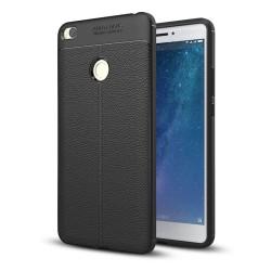 Funda Gel Tpu Tipo Piel Negra para Xiaomi Mi Max 2