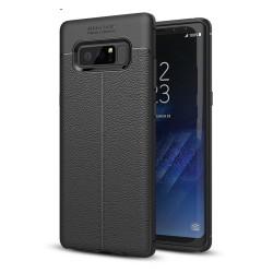 Funda Gel Tpu Tipo Piel Negra para Samsung Galaxy Note 8