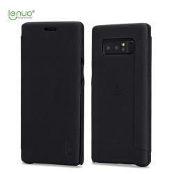 Funda Piel Flip Negra Marca Lenuo para Samsung Galaxy Note 8