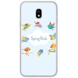Funda Gel Tpu para Samsung Galaxy J3 (2017) Diseño Spring Birds Dibujos