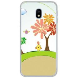 Funda Gel Tpu para Samsung Galaxy J3 (2017) Diseño Primavera Dibujos