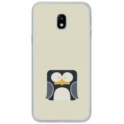 Funda Gel Tpu para Samsung Galaxy J3 (2017) Diseño Pingüino Dibujos