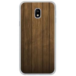 Funda Gel Tpu para Samsung Galaxy J3 (2017) Diseño Madera Dibujos