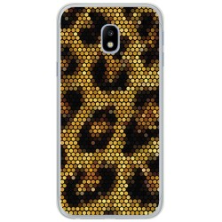 Funda Gel Tpu para Samsung Galaxy J3 (2017) Diseño Leopardo Dibujos