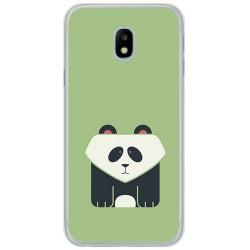Funda Gel Tpu para Samsung Galaxy J3 (2017) Diseño Panda Dibujos