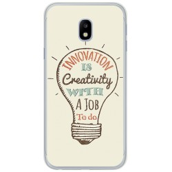 Funda Gel Tpu para Samsung Galaxy J3 (2017) Diseño Creativity Dibujos