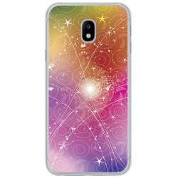 Funda Gel Tpu para Samsung Galaxy J3 (2017) Diseño Abstracto Dibujos