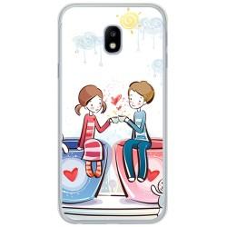 Funda Gel Tpu para Samsung Galaxy J3 (2017) Diseño Cafe Dibujos