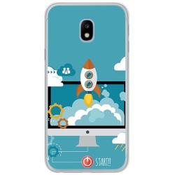 Funda Gel Tpu para Samsung Galaxy J3 (2017) Diseño Cohete Dibujos