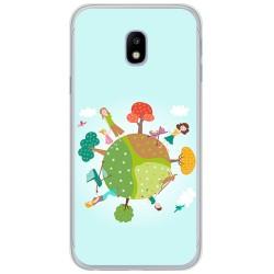 Funda Gel Tpu para Samsung Galaxy J3 (2017) Diseño Familia Dibujos